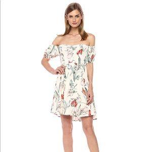 ASTR Floral Mini Dress Botanicals Off The Shoulder